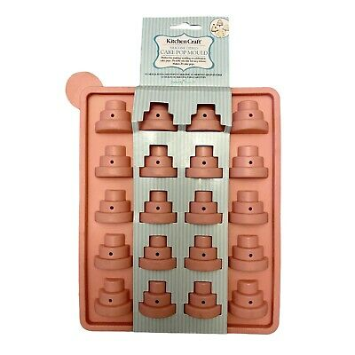 £7.19 • Buy Kitchencraft Silicone Tiered CAKE POP MOULD 20 Pops Cupcake, Lollipop, Baking