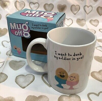 £6.50 • Buy NEW & Boxed Mug Off Valentines Novelty Mug - 'I Want To Dunk My Soldier In You'