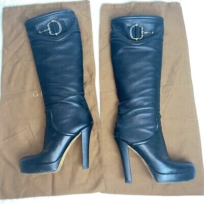 £250 • Buy Gucci Leather Boots Knee High 39.5