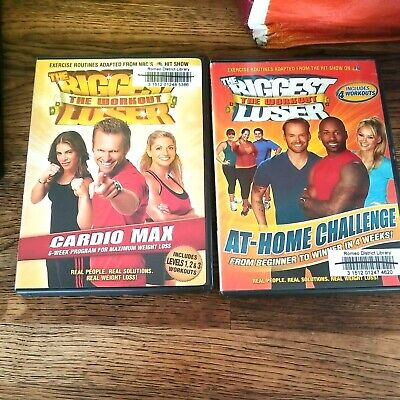 Lot Of 2 The Biggest Loser The Workout At-Home Challenge Cardio Max DVD Fitness  • 6.31£