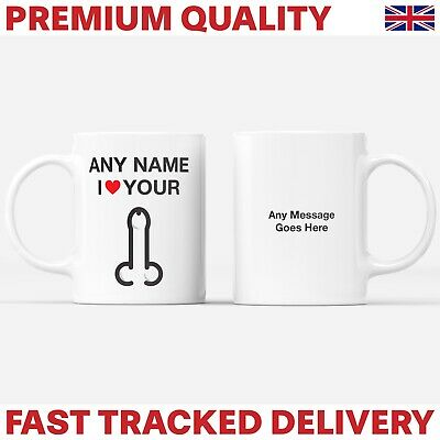 Personalised Mug + Coaster - Any Name I Love Your Dick - Valentine Funny Gift • 5.95£