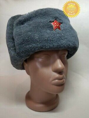 £18.12 • Buy Soldier Winter Hat Ushanka Earflap USSR Soviet Army Authentic New Cap Size 58