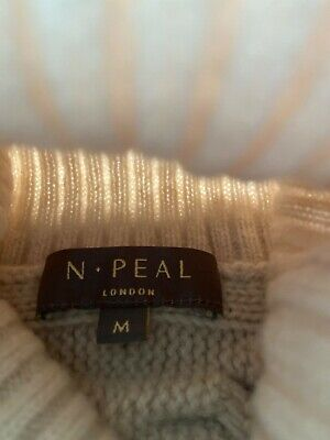 N Peal Cashmere Long Cable Jumper Size M • 350£