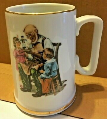 $ CDN5.99 • Buy Norman Rockwell  The Toy Maker  Coffee Mug Tea Cup 1986 Museum Collections