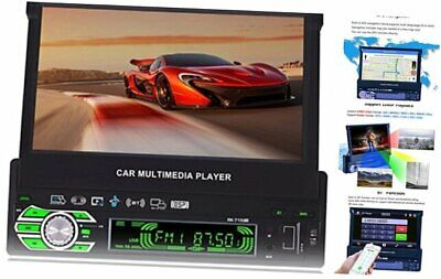 AU258.62 • Buy 7-inch Single DIN In-Dash GPS Navigation For Car With Rear View Camera,Support