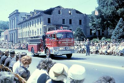 AU6.55 • Buy #V4 Bb Amateur 35mm Slide-Photo- Fire Engine In Parade 1963