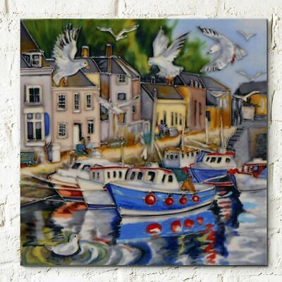 £24.95 • Buy Padstowe Judith Yates Decorative Ceramic Picture Tile 8x8 Home Decor Wall Plaque