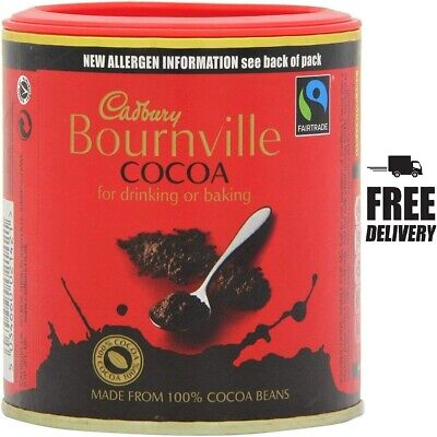 £4.34 • Buy  Cadbury Bournville Cocoa For Drinling Or Baking Cooking, 125g