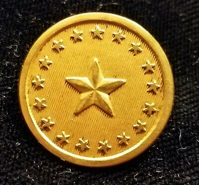 $60 • Buy Pre Civil War 1 Piece State Of Maine Militia Button Alberts# Me-4-ty   Gilded