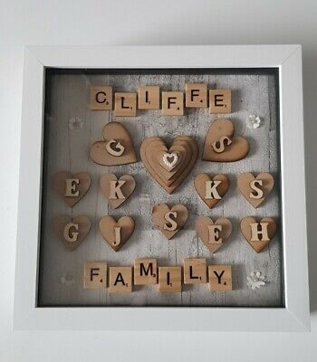 Personalised Scrabble /word Art Picture, Valentine ,family,wedding,mothersday 3d • 20£
