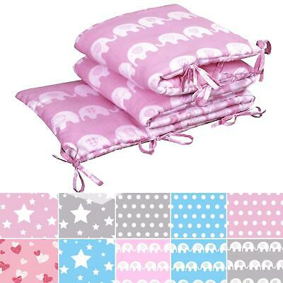 £10.99 • Buy Baby Infant Nursery 100% Cotton Soft Padded Quilted Crib Cot Bed Bumper