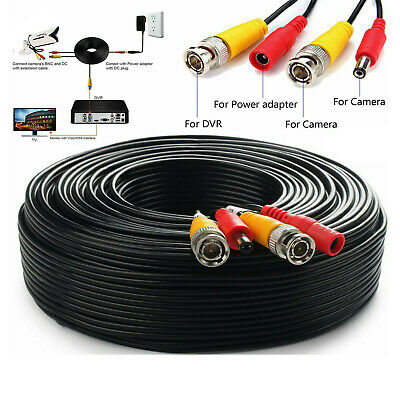 £4.45 • Buy  BNC DC Power Lead CCTV Security Camera DVR Video Record Extension Cable 1M-100M