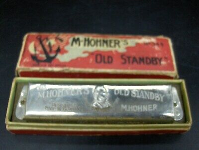 $29.99 • Buy Vintage M Hohner Hohner's Old Standby Harmonica 440 Key Of C Made In Germany