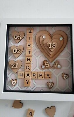 Personalised Scrabble /word Art Picture, Birthday ,family,wedding,mothersday 3d • 20£