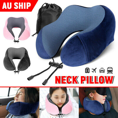AU17.45 • Buy Neck Support Pillow Travel Memory Foam Rebound Sleeping Pad Headrest U-shaped AU