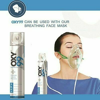 Oxy99 Portable Oxygen Cylinder / Can By OXY99 WITH MASK FREE • 19.88£