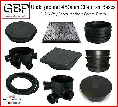 £85.63 • Buy Underground Chamber Bases, Manhole Covers, Risers, Sealing Rings & Spacers