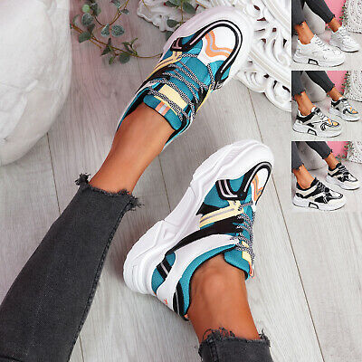$ CDN33.51 • Buy Womens Ladies Chunky Sole Sneakers Party Women Trainers Sport Shoes Size