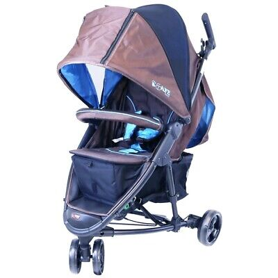 £129.99 • Buy ISafe Visual 3 Wheeler Stroller Brown / Blue Foot Muff+ Rain Cover+ Changing Bag