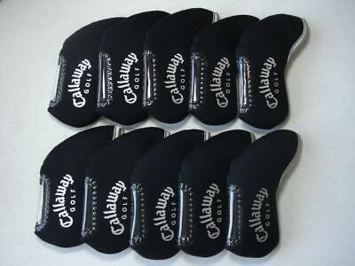 AU19.16 • Buy 10PCS Golf Iron Headcovers Windows For Callaway Club Head Covers Protector Black
