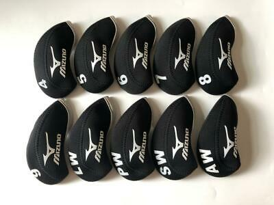 AU18.38 • Buy NEW 10PCS Golf Iron Covers For Mizuno Club Headcovers 4-LW Black Gray Universal