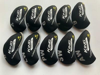 AU18.26 • Buy 10PCS Club Headcovers For Cobra King Forged Tec Iron Covers 4-LW Black&Black