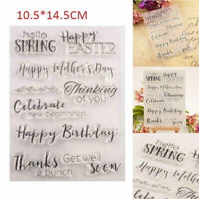 Happy Birthday - Easter Silicone Clear Stamp DIY Scrapbook Album Paper Card UK • 4.75£