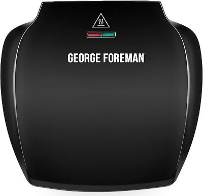 £34.80 • Buy George Foreman Family 5-Portion510 Sq Cm Plate Grill 23420 - Black