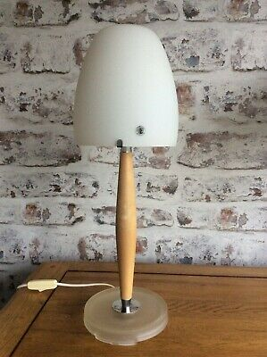 Rare Vintage Ikea B9805 Table Lamp Frosted Glass Base Woo No 2 • 79.99£