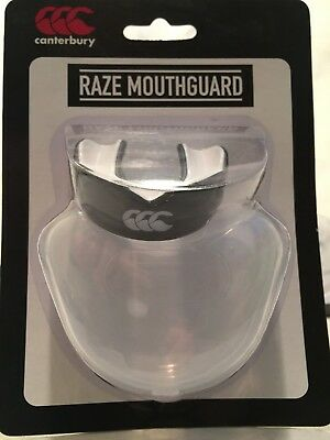 £17.99 • Buy 2 X Adults Canterbury Rugby Boxing Mouth Guard Gum Shield Black / White In Case