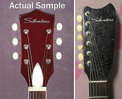 $ CDN9.61 • Buy 1960's Silvertone Headstock Decals Waterslide White Amp Vintage Guitar 1448