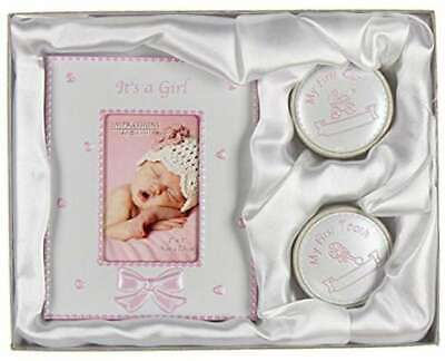 £7.50 • Buy It's A Girl Photo Frame (2 X 3 ) & My First Tooth And Curl Frame Christening Gif