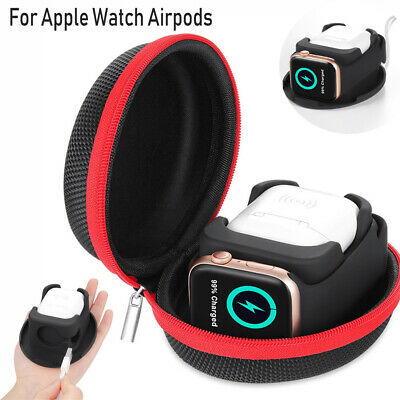 AU19.91 • Buy For Apple Watch Stand/Airpods Charging Case Station Dock Travel Storage Box