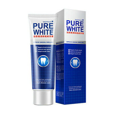 120g Pure White Toothpaste Dental Gum Care Whitening Effect Removes Plaque UK, • 5.75£