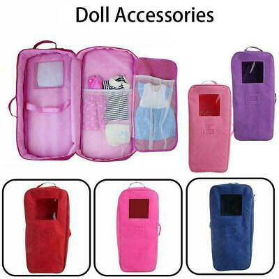 18-inch Doll Case Carrier Suitcase Storage Travel For Girls Beauty Doll L2O3 • 10.54£