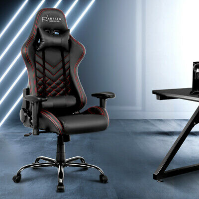 AU177.70 • Buy Artiss Gaming Office Chair Executive Desk Chairs Racing Recliner Seat Black