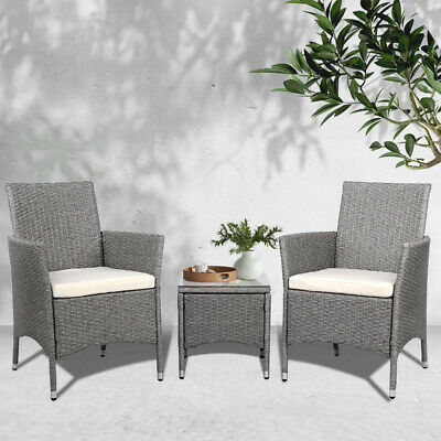 AU216.20 • Buy Gardeon Patio Furniture Outdoor Setting Bistro Set Chair Side Table 3 Piece