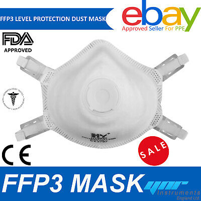 £7.99 • Buy FFP3 Face Mask Cup Dust Masks Valved P3 N99 Disposable Respirator Protected