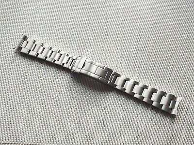 Brushed Stainless Steel Folded Link Watch Strap 20mm Curved Ends • 7.99£