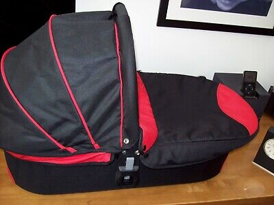 Icandy Cherry Red & Black Carrycot & Mattress In Extremely Good Unused Condition • 25.99£