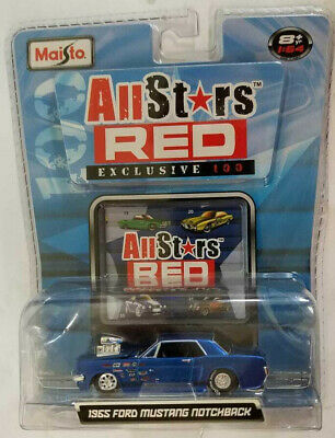 $24.99 • Buy Maisto Allstars Red Exclusive 1:64 Blown 1965 Ford Mustang Notchback Blue