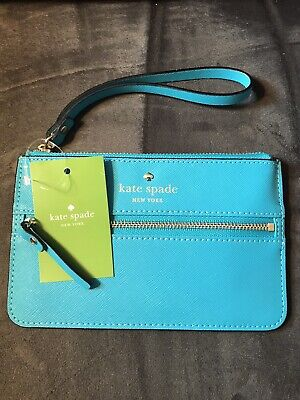 $ CDN44.19 • Buy Kate Spade MIKAS POND BEE Turquoise Wallet Purse Wristlet Accessories NEW
