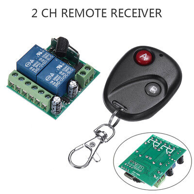 £5.39 • Buy 12V 2CH Learning Code Relay Receiver+Wireless Remote Control Switch Transmitters
