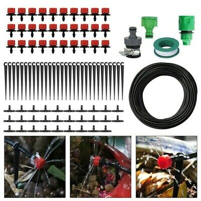 25M Automatic Drip Irrigation System Kit Plant Timer Self Watering Garden Hose • 10.99£