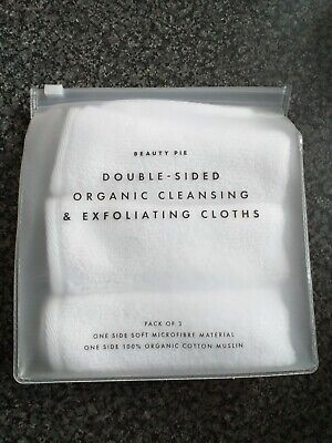 £12.96 • Buy 3 X Beauty Pie Double Sided Organic Cleansing & Exfoliating Cloths 100% Cotton