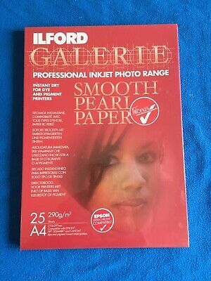 Ilford Galerie Smooth Pearl 25 Sheets A4 290g/m2 Photo Paper • 12.50£