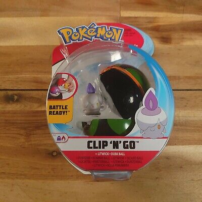 Pokemon Clip 'n' Go Figure  - Litwick With Meat Ball  - Brand New Sealed Pack • 9.95£
