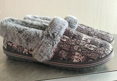 Skechers Womens Bobs Comfort Casual Too Cozy Slippers Pooch Parade Size 9 • 22.81£