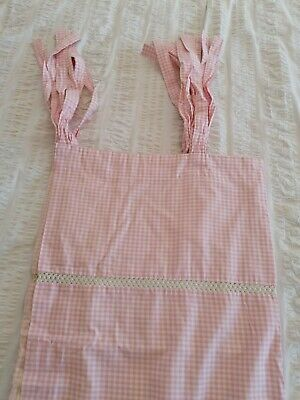 Laura Ashley Tab Top Pink And White Curtains - Perfect For Girls Bedroom • 13£