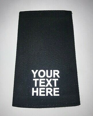 £11.99 • Buy Epaulettes Customised With Your Own Reflective Text - Medical/security/business